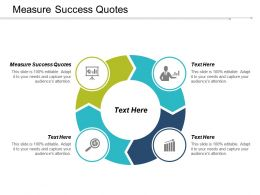Measure Success Quotes Ppt Powerpoint Presentation Professional Mockup Cpb