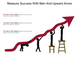 Measure Success With Men And Upward Arrow