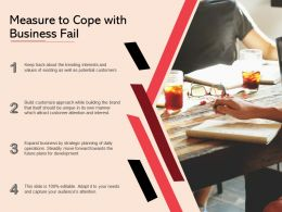 Measure To Cope With Business Fail