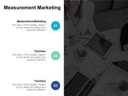 Measurement Marketing Ppt Powerpoint Presentation Icon Professional Cpb