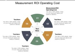 Measurement ROI Operating Cost Ppt Powerpoint Presentation Outline Samples Cpb