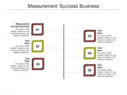 Measurement Success Business Ppt Powerpoint Presentation Gallery Show Cpb