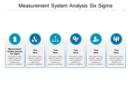 Measurement System Analysis Six Sigma Ppt Powerpoint Presentation Picture Cpb
