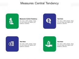 Measures Central Tendency Ppt Powerpoint Presentation Layouts Diagrams Cpb
