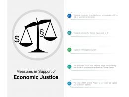 Measures In Support Of Economic Justice