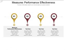 Measures Performance Effectiveness Ppt Powerpoint Presentation Slides File Formats Cpb