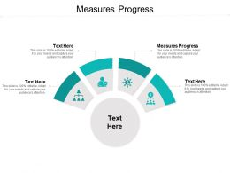 Measures Progress Ppt Powerpoint Presentation Icon Examples Cpb