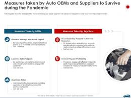 Measures Taken By Auto OEMs And Suppliers To Survive During The Pandemic Ppt Themes