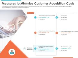 Measures To Minimize Customer Acquisition Costs Conversion Efforts Ppt Inspiration