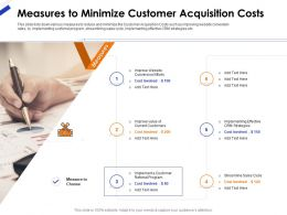 Measures To Minimize Customer Acquisition Costs Ppt Presentation Gallery