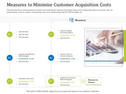 Measures To Minimize Customer Acquisition Costs Website Ppt Powerpoint Show Slide