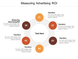 Measuring Advertising Roi Ppt Powerpoint Presentation Portfolio Display Cpb