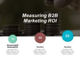 Measuring B2B Marketing ROI Ppt Powerpoint Presentation Gallery Summary Cpb