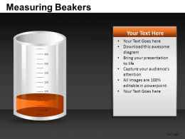 Measuring Beakers Powerpoint Presentation Slides DB