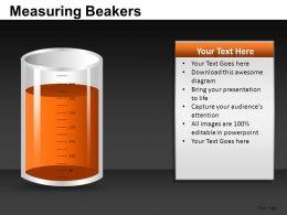 Measuring Beakers Powerpoint Presentation Slides DB