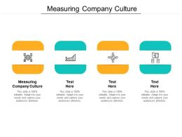 Measuring Company Culture Ppt Powerpoint Presentation Layouts Slide Cpb