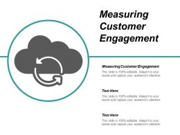 Measuring Customer Engagement Ppt Powerpoint Presentation Infographic Template Format Cpb