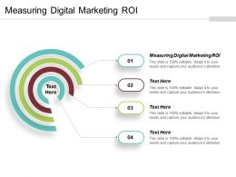 Measuring Digital Marketing Roi Ppt Powerpoint Presentation Gallery Pictures Cpb