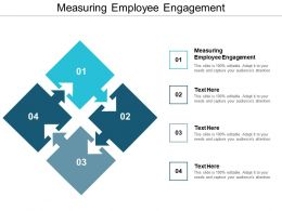 Measuring Employee Engagement Ppt Powerpoint Presentation Gallery Deck Cpb