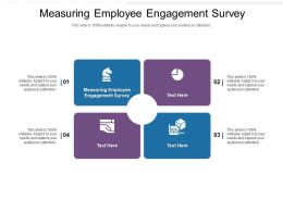 Measuring Employee Engagement Survey Ppt Powerpoint Presentation Infographic Template Cpb