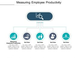 Measuring Employee Productivity Ppt Powerpoint Presentation Icon Grid Cpb