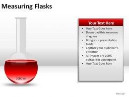 Measuring Flasks Powerpoint Presentation Slides