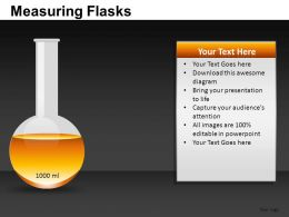 Measuring Flasks Powerpoint Presentation Slides DB