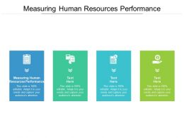 Measuring Human Resources Performance Ppt Powerpoint Presentation Model Cpb