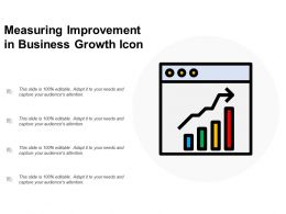 Measuring Improvement In Business Growth Icon