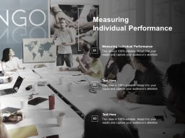 Measuring Individual Performance Ppt Powerpoint Presentation Summary Design Ideas Cpb