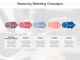 Measuring Marketing Campaigns Ppt Powerpoint Presentation Ideas Graphics Design Cpb