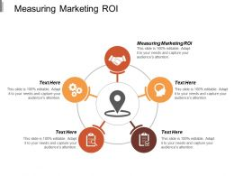 Measuring Marketing Roi Ppt Powerpoint Presentation Ideas Examples Cpb