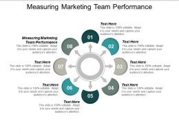 Measuring Marketing Team Performance Ppt Powerpoint Presentation Ideas Skills Cpb