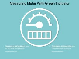 Measuring Meter With Green Indicator