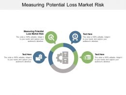 Measuring Potential Loss Market Risk Ppt Powerpoint Presentation Gallery Influencers Cpb