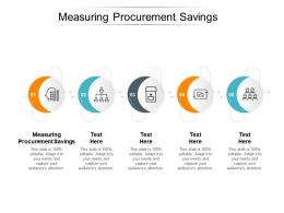 Measuring Procurement Savings Ppt Powerpoint Presentation Professional Example Cpb