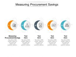 Measuring Procurement Savings Ppt Powerpoint Presentation Professional Example Cpb