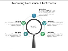 Measuring Recruitment Effectiveness Ppt Powerpoint Presentation Icon Format Cpb