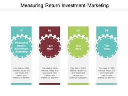 Measuring Return Investment In Marketing Ppt Powerpoint Presentation Gallery Show Cpb
