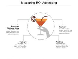 Measuring Roi Advertising Ppt Powerpoint Presentation Portfolio Elements Cpb
