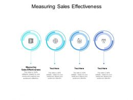 Measuring Sales Effectiveness Ppt Powerpoint Presentation File Example File Cpb