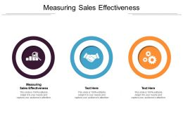 Measuring Sales Effectiveness Ppt Powerpoint Presentation File Objects Cpb