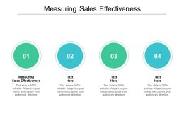 Measuring Sales Effectiveness Ppt Powerpoint Presentation Pictures Designs Download Cpb