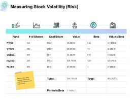 Measuring Stock Volatility Portfolio Powerpoint Presentation Summary Inspiration