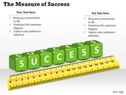 Measuring Success Powerpoint Template Slide