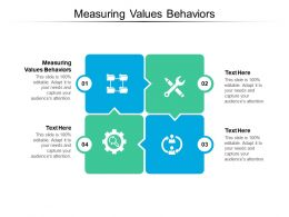 Measuring Values Behaviors Ppt Powerpoint Presentation Professional Ideas Cpb