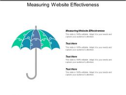 Measuring Website Effectiveness Ppt Powerpoint Presentation Icon Guide Cpb