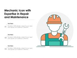 Mechanic Icon With Expertise In Repair And Maintenance