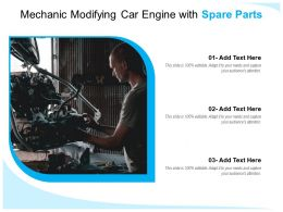 Mechanic Modifying Car Engine With Spare Parts
