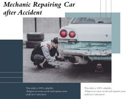 Mechanic Repairing Car After Accident